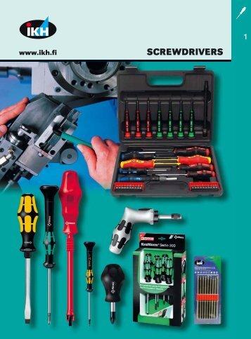 IKH Tools 2007, 1. Screwdrivers