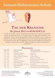 Tag der Kraniche- Programm.indd - Berliner Heilpraktiker Nachrichten
