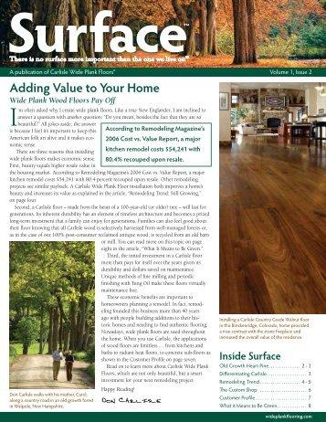 Fall 2007 Vol. 1 Issue 2 - Carlisle Wide Plank Floors