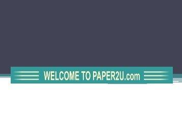 Welcome to PAPER2U.com