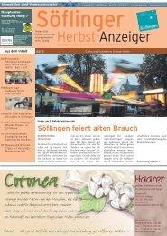 Söflinger Herbst-Anzeiger vom Oktober 2012 (PDF 13,5 MB)
