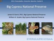 Big Cypress NP - Everglades Cooperative Invasive Species ...
