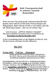 Kath. Frauengemeinschaft St. Johannes Nepomuk Burgsteinfurt ...