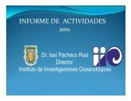 Finanzas del IIO - Instituto de Investigaciones Oceanológicas, UABC