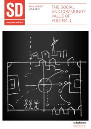 THE SOCIAL AND COMMUNITY VALUE OF FOOTBALL - Substance