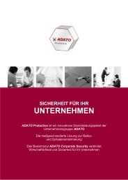 sicherheit für ihr unternehmen - ADATO Consulting Group GmbH