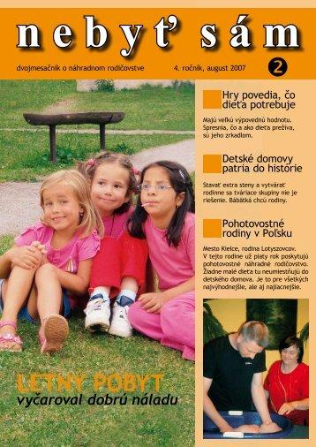 LETNÝ POBYT - Asociácia náhradných rodín