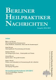 veranstaltungsinformationen 2012/2013 aus - Berliner Heilpraktiker ...