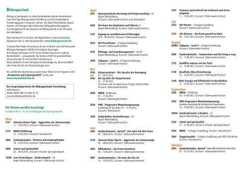 Bildungsurlaub im Odenwald-Institut 2012