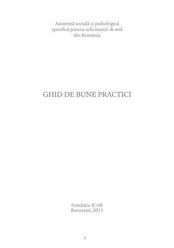 GHID DE BUNE PRACTICI - ICAR Foundation