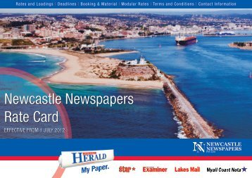 Newcastle Newspapers Rate Card