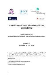Investitionen für ein klimafreundliches Deutschland - Global ...