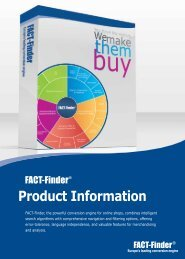 Product Information - FACT-Finder