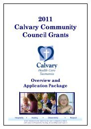 2011 Calvary Community Council Grants \ Overview and Application ...