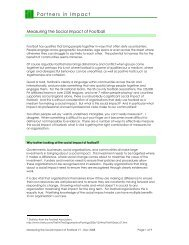 Working Paper 5. Measuring the Social Impact of ... - Supporters Direct