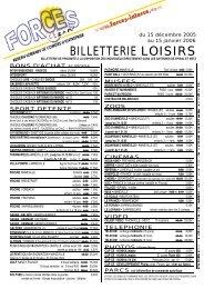 Billeterie loisirs - Le site du CAES de la région Lorraine a déménagé