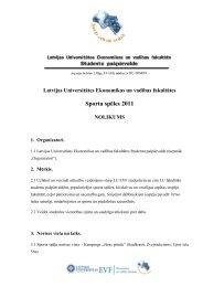 Latvijas Universitātes Ekonomikas un vadības fakultātes sporta ...