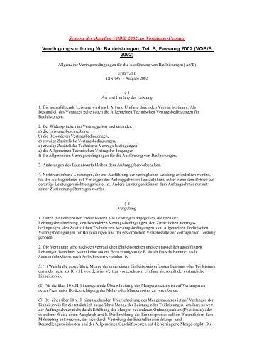 Verdingungsordnung für Bauleistungen - Haus & Grund Bad ...