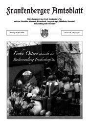 Bau- und Ordnungsamt - Stadt Frankenberg