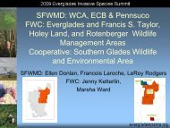 South Florida Water Management District - Everglades Cooperative ...