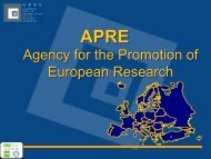 Agency for the Promotion of European Research - Young-Train