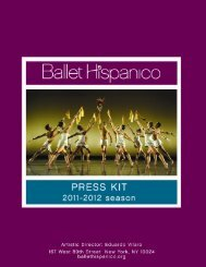 Electronic Press Kit 2011-2012 FINAL - Ballet Hispanico