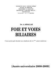 Dr. ABDALLAH- foie et voies biliaires- 2 année médecine
