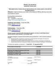 proiect de inovare şi - Agenţia pentru Inovare şi Transfer Tehnologic