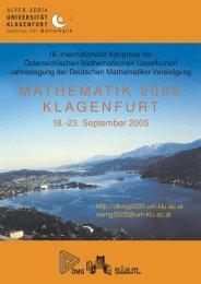 komplett 6,08 MB - Mathematik 2005 - Universität Klagenfurt