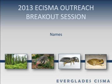 Overview of Everglades Invasive Species