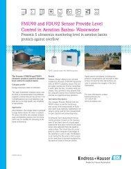 FMU90 Level in Aeration Basins - Durable Controls