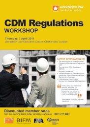 CDm regulations Workshop thursday, 7 april 2011 - TunnelTalk.com