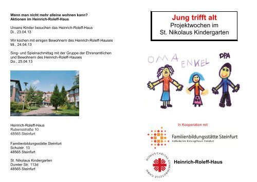 """""""Jung trifft alt"""" (April/Mai 2013) - Start - Katholisch in Steinfurt"""