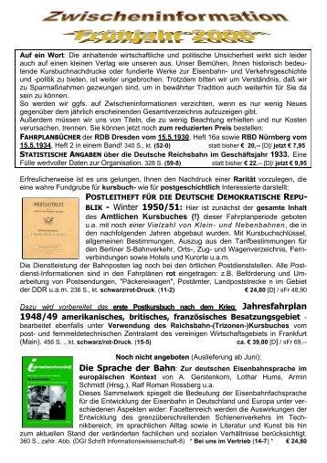 ZWISCHENINFORMATION 2003
