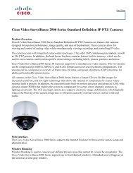 Cisco Video Surveillance 2900 Series Standard ... - VIS Security