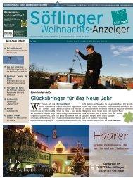 Söflinger Weihnachts-Anzeiger vom Dezember 2010 (PDF 17,9 MB)
