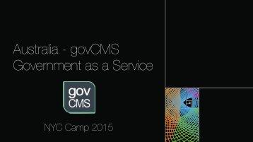 NYC Camp - Australia govCMS