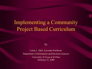 An Organizational Model for Development of Service ... - CETaL