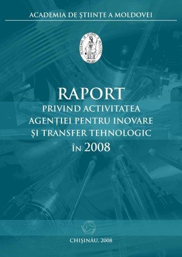 a. 2008 - Agenţia pentru Inovare şi Transfer Tehnologic - Academia ...