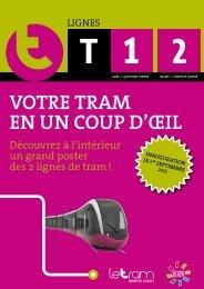 Poster des 2 lignes T1 et T2 - Le Tram