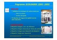 Programme ECOLEADER - Laboratoire d'études de mécanique ...