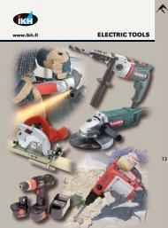 13. electric tools, wood and metal working