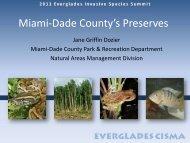 Miami-Dade County - Everglades Cooperative Invasive Species ...