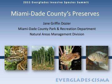Miami-Dade County - Everglades Cooperative Invasive Species ...