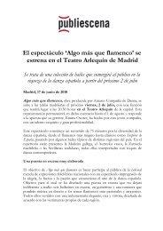 El espectáculo 'Algo más que flamenco' se estrena en ... - Publiescena