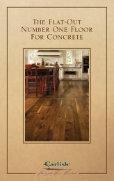 Concrete Installation - Carlisle Wide Plank Floors