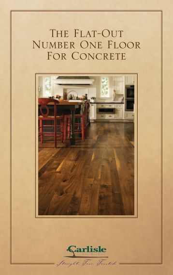Concrete Installation - Carlisle Wide Plank Floors