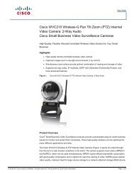 Cisco WVC210 Wireless-G Pan Tilt Zoom (PTZ ... - VIS Security