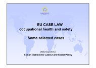 EU Law Cases - Balkan Institute for Labour and Social Policy