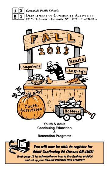 Fall 2013 Brochure Is Here! - Oceanside School District
